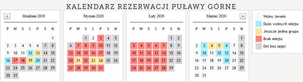 kalendarz sezon 19 na 20